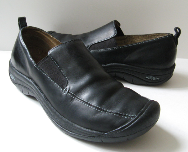 closet keen black leather walking shoes womens size 8