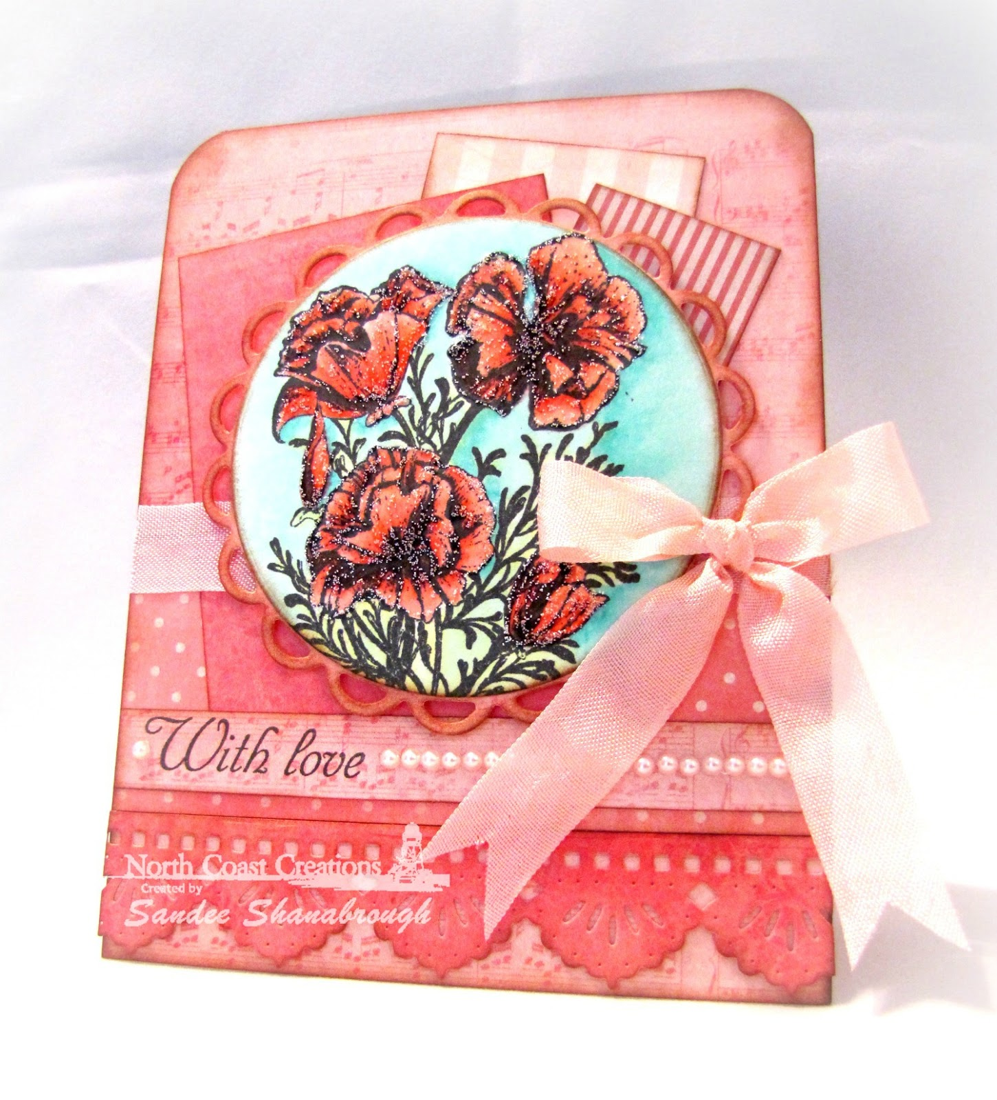 Stamps - North Coast Creations Floral Sentiments 3, ODBD Beautiful Borders Dies