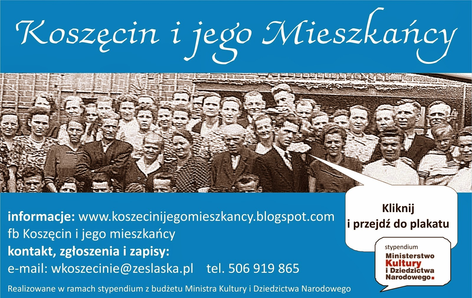 afisz zapraszajacy do udziału w projekcie
