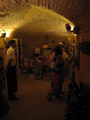 Restaurant Casato di Sotto wine cellar Siena, Tuscany