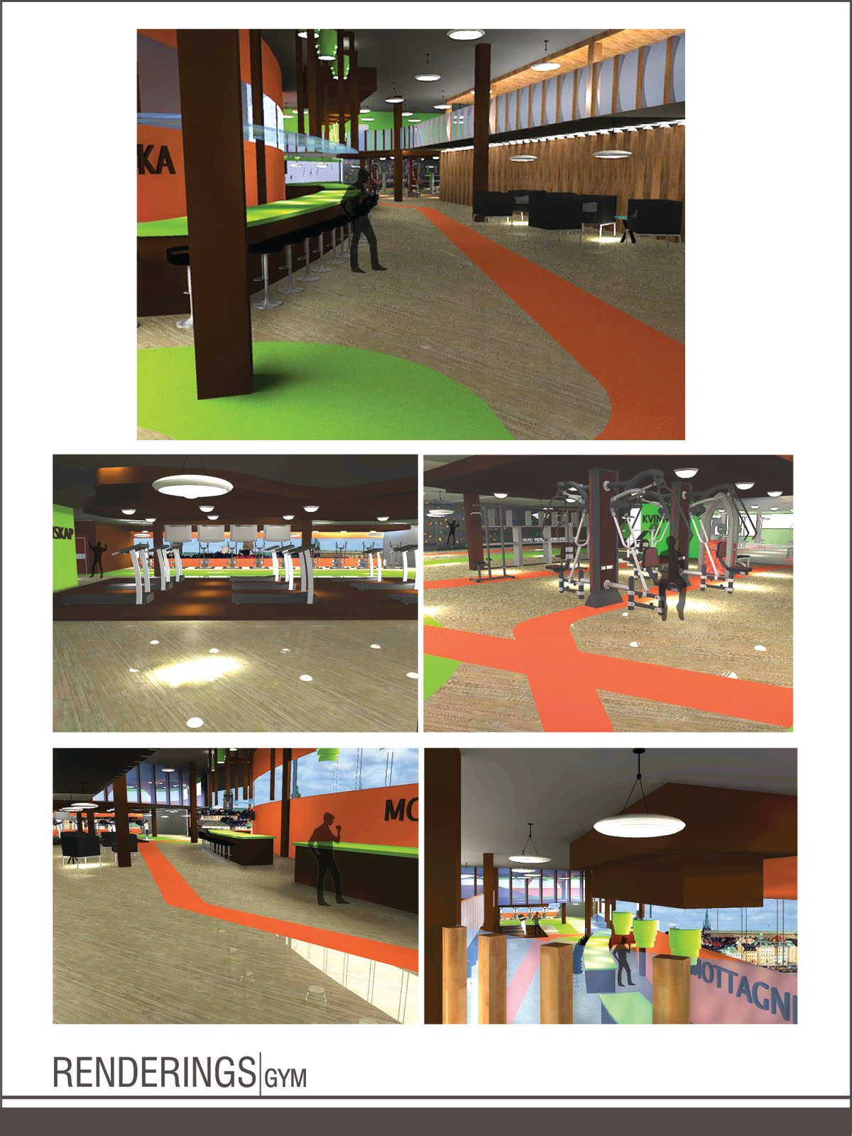 Helix Design, Inc: INTERIOR RENDERINGS: GYM