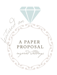 zion wedding featured on a paper proposal