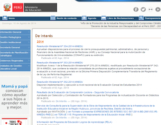 Resultados Prueba de Comprensión de Textos para Directores y Subdirectores 2014 por internet publicacion 11 de Agosto 2014