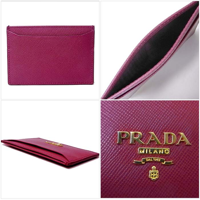 prada purse black leather - Prada Saffiano Leather Card Holder (1M0208) in Ibisco | Polka B ...
