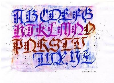 Graffiti Alphabet in Alglerian Calligraphy