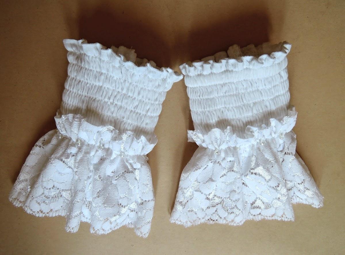 текстильные манжеты белого цвета