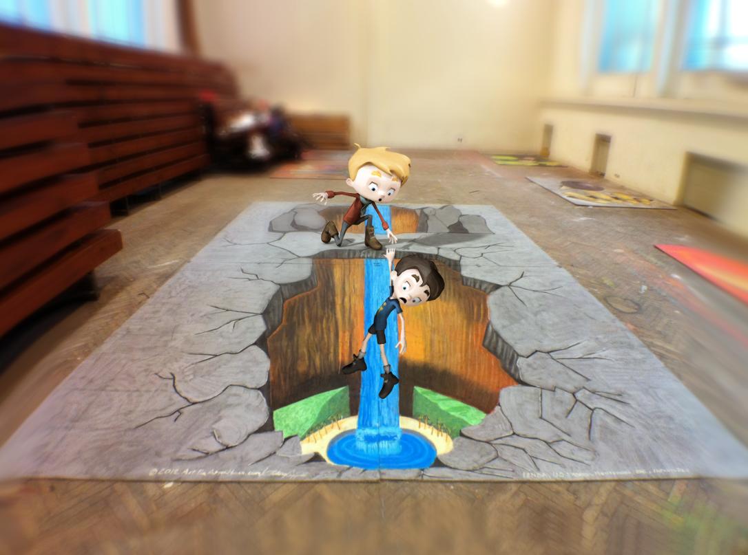 Mixamo 3d chalk art sidewalk art for 3d art projects