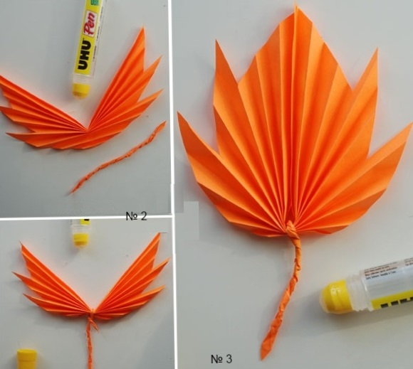 Autumn leaves of paper Crazzy Craft