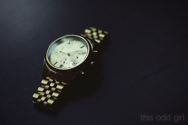 this odd girl, marijn haertel, michael kors, watch, gold