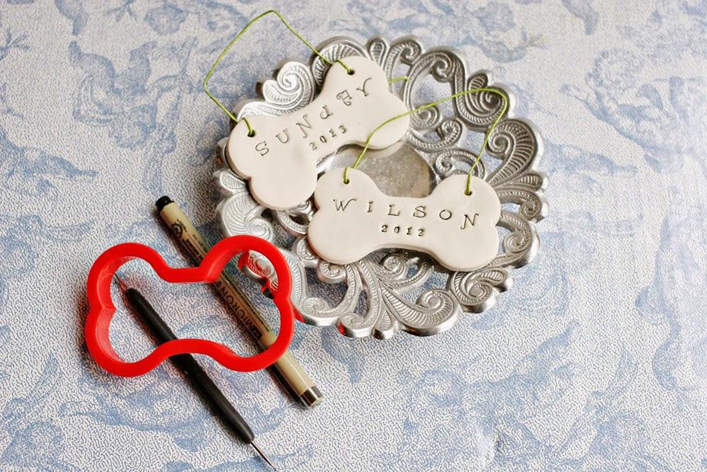 Clay dog bone ornaments diy gift craftivity designs for Dog bone ornaments craft