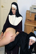 Mother Superior Mary Olivia Spanks Sister Sally For Her Impure Thoughts - Spanking Sorority Girls
