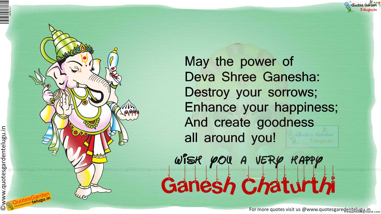 Ganesh Chaturthi Quotes HDwallpapers Images sms Whatsapp ...