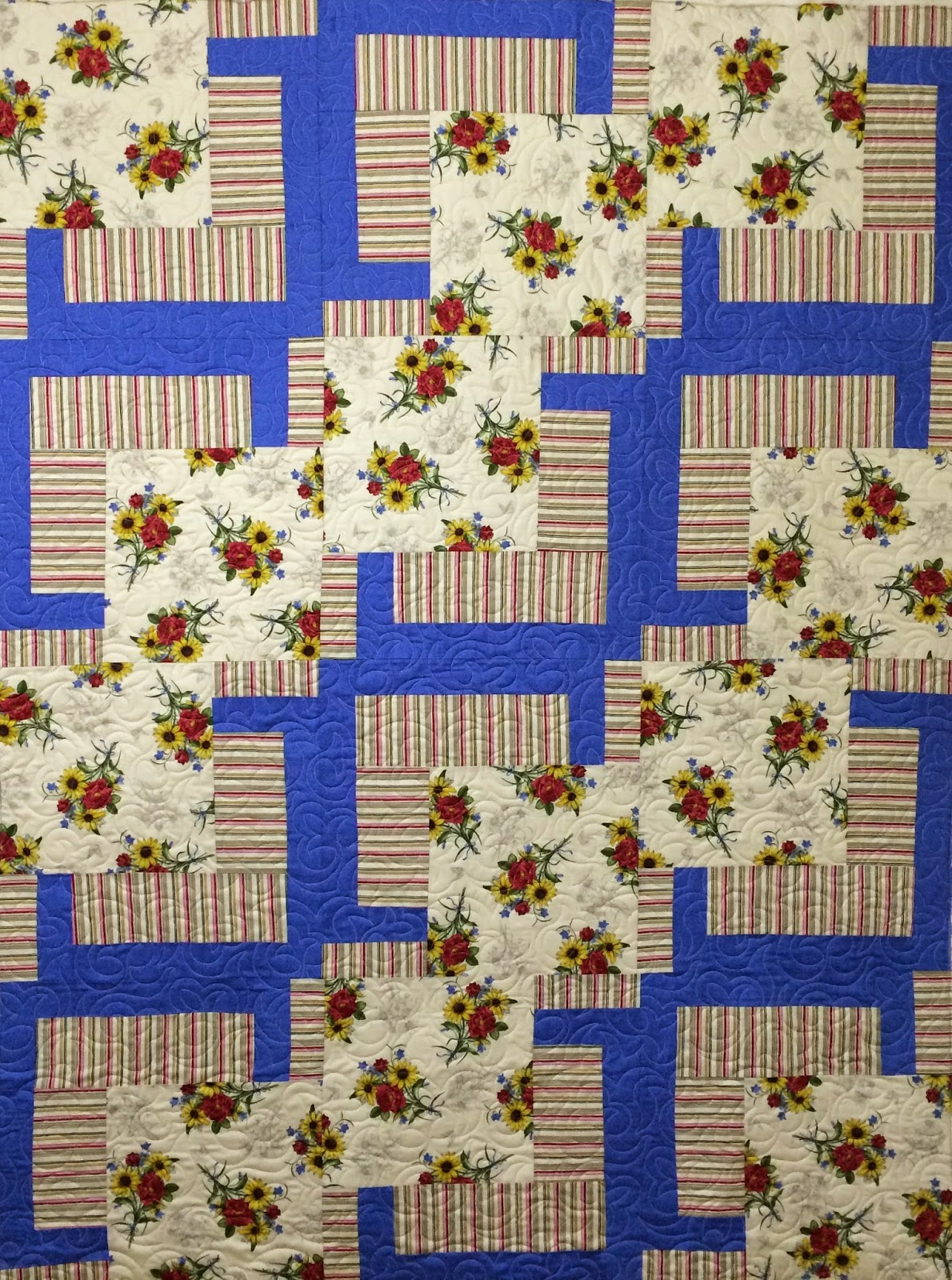 Beth Robertson's Roses with Stripes Quilt