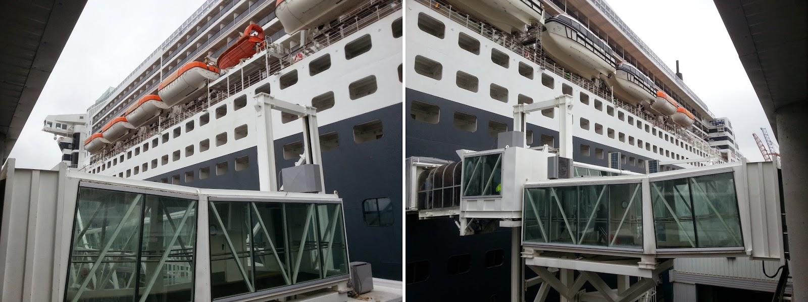 Queen Mary 2 (QM2) alongside at Brooklyn Cruise Terminal, New York