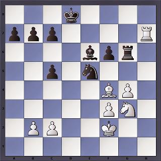 Échecs : après 30 minutes de réflexion, Vishy joue : 28. ...Ce5