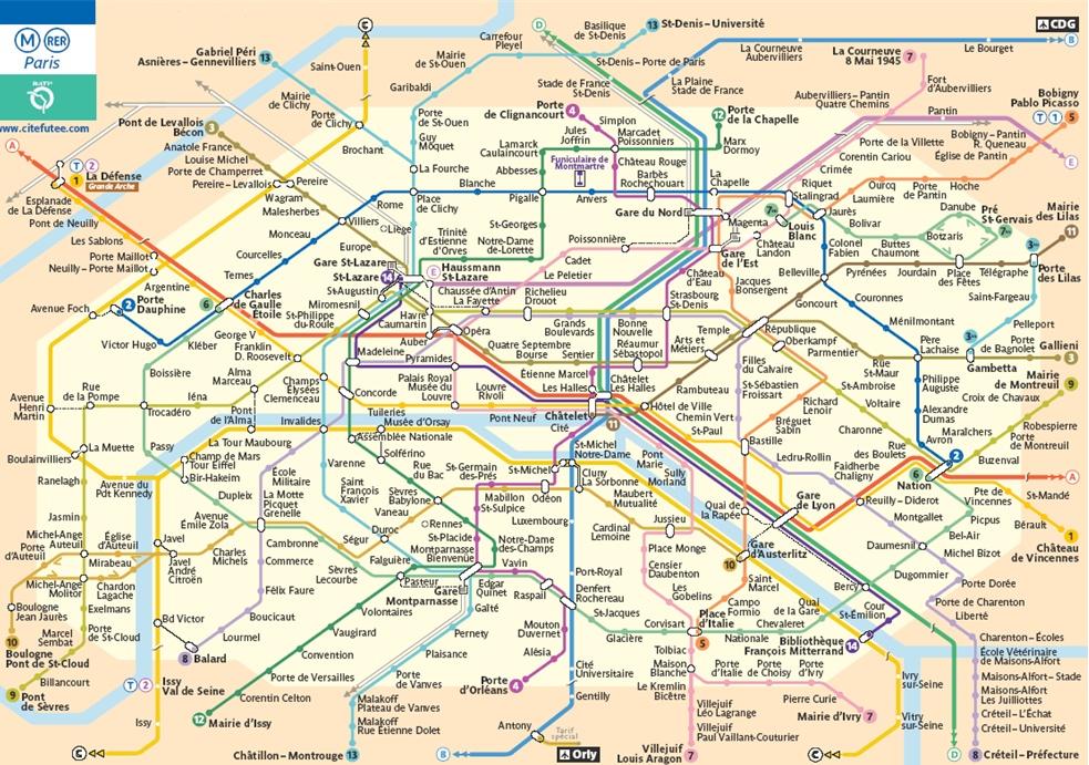 Parigi porte maillot mappa metropolitana for Porte maillot