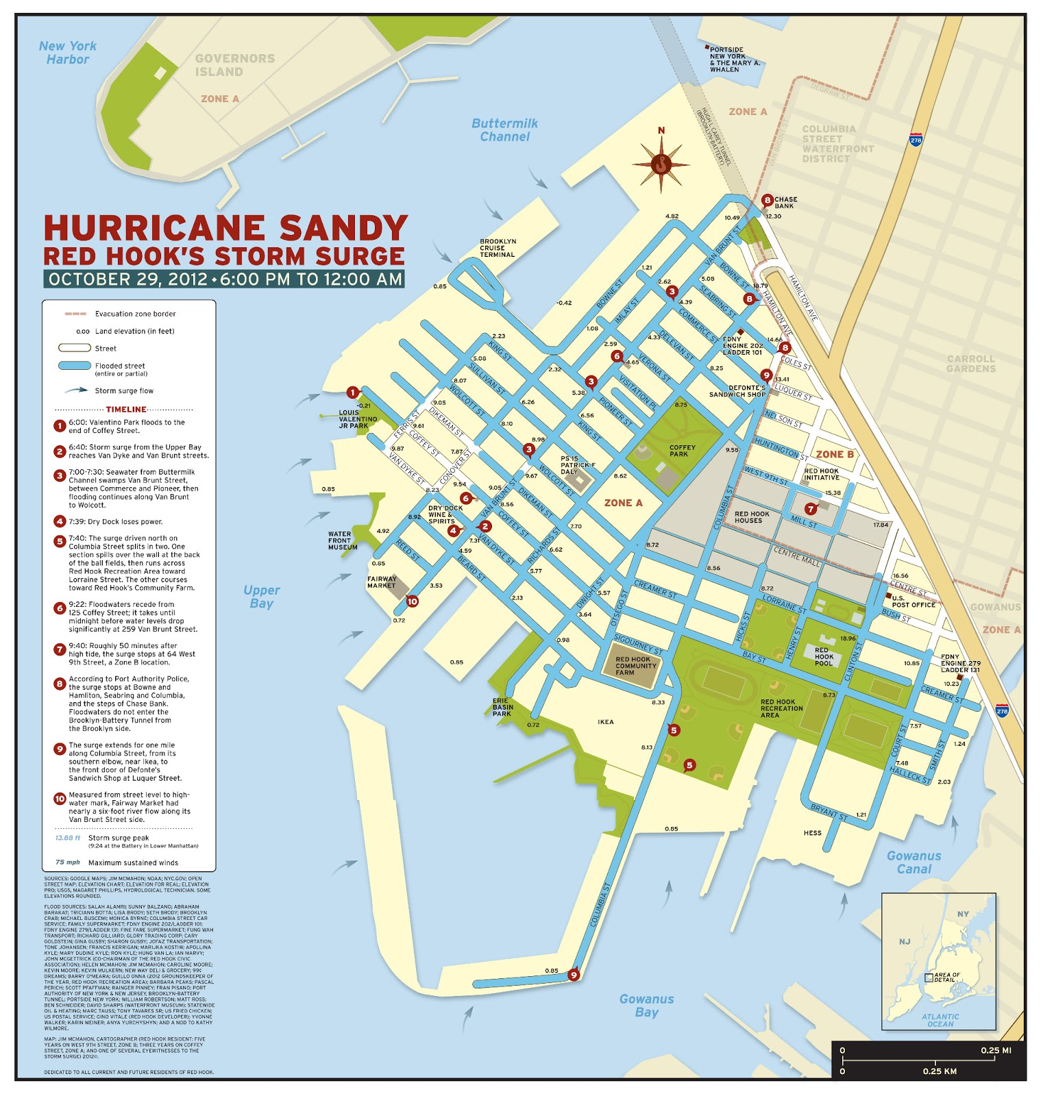 Sandy Flood Map Red-hook-sandy-surge-map-&-and