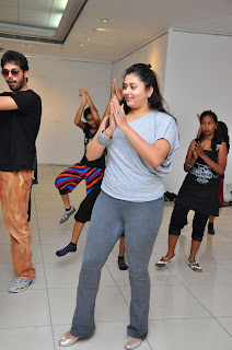 Indian Actress Namitha Pictures During Dance Practice