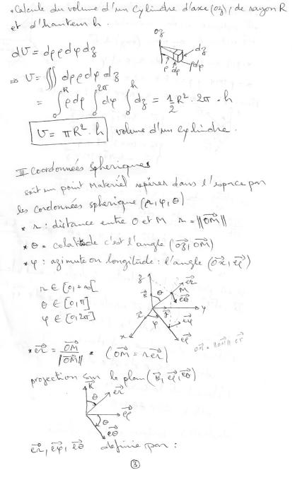 résumé du cours de la mécanique du point matériel