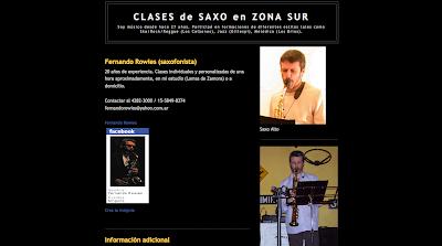 Directorio Musical Agrega tu blog Clases de Saxo Zona Sur GBA - Lomas de Zamora
