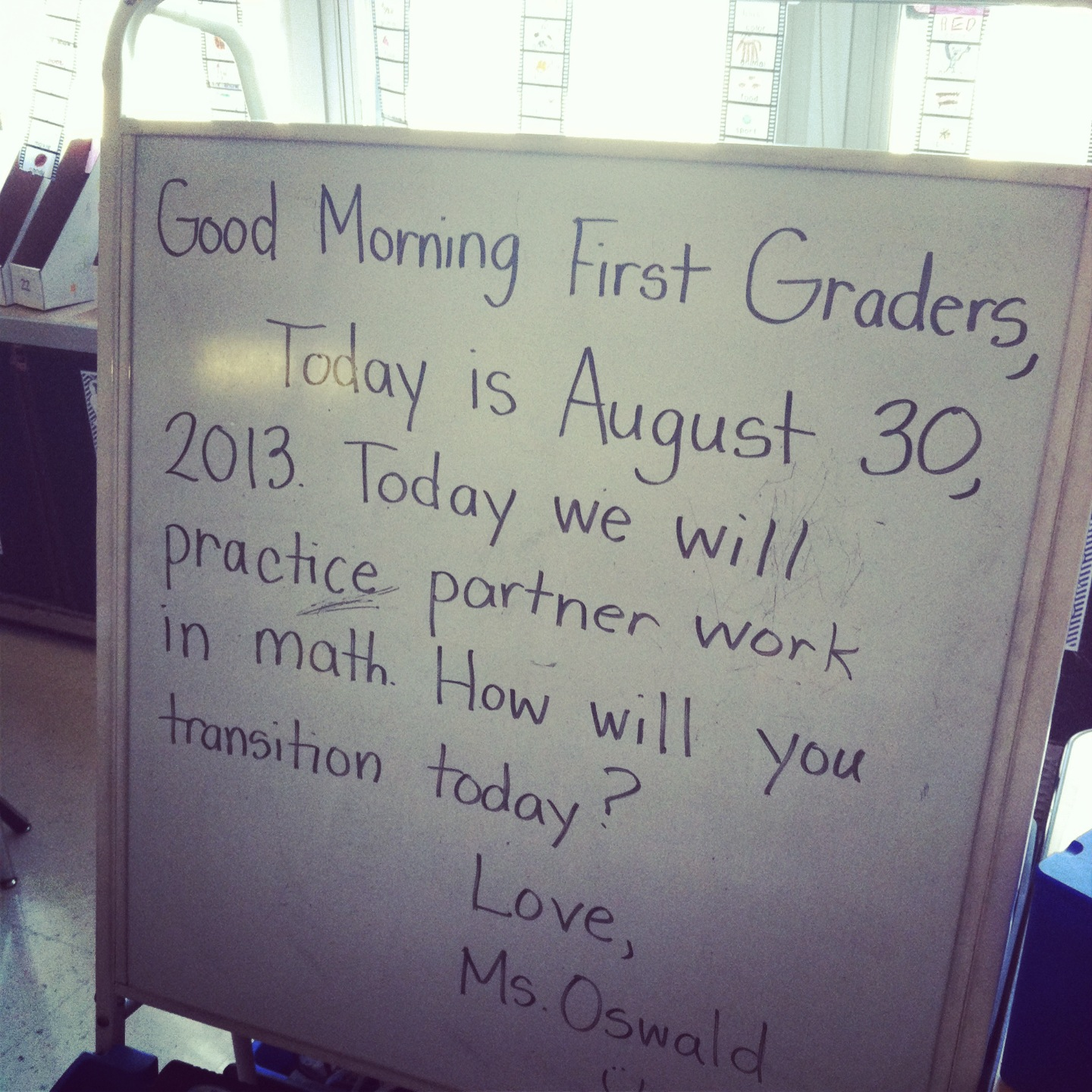 Once upon a classroom a teachers tales first week of school in a greeting sharing time an activity and a morning message it is an outstanding way to start our day if you are interested in the morning meeting m4hsunfo