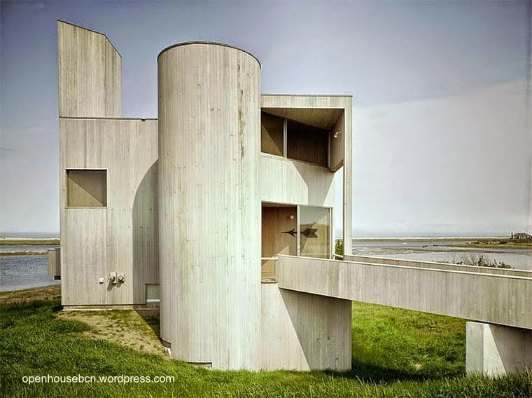 Residencia posmoderna estructura de hormigón armado