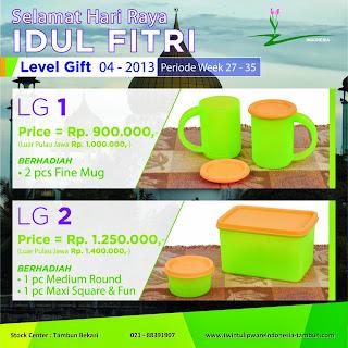 Level Gift Tulipware | Juli - Agustus 2013