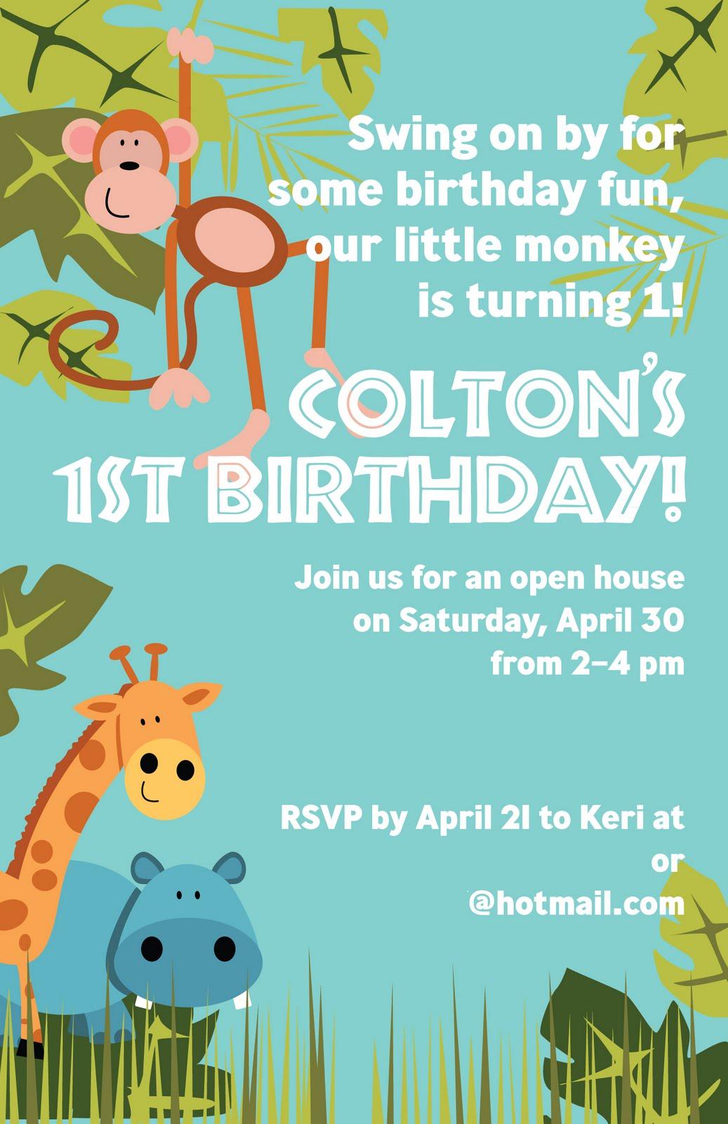 Kaleidoscope: Jungle Birthday Invitation!