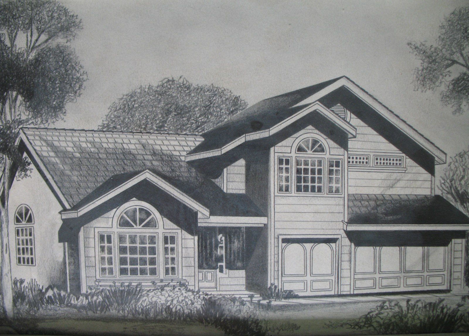 Easy House Drawings In Pencil