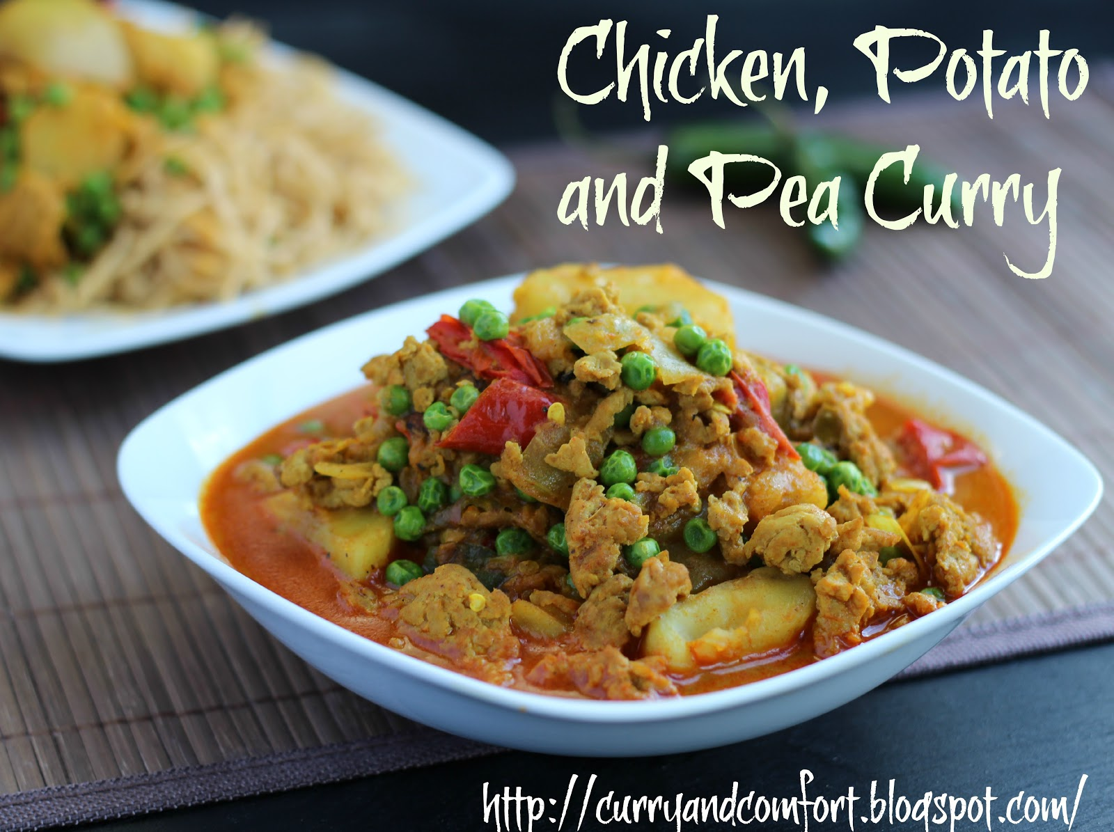 Kitchen simmer ground chicken potato and pea curry ground chicken potato and pea curry forumfinder Images