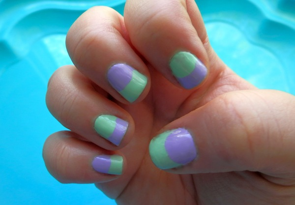 BEAUTY: Two-Tone Pastel Nails | Neon Rattail