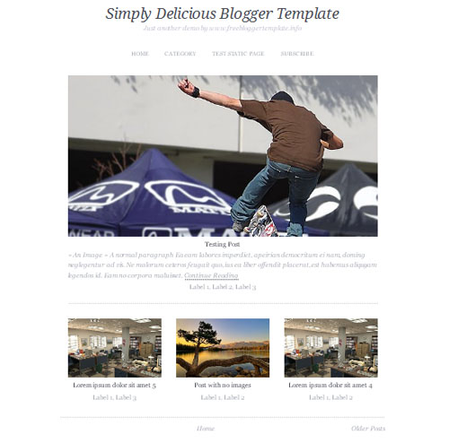 MagzNote Blogger Template