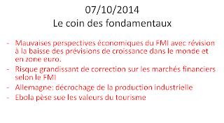 news économiques et boursières du 07/10/2014