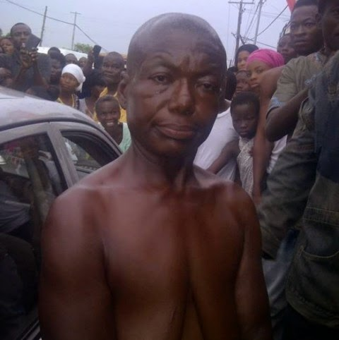 A Man with female features spotted in Ghana - and yes, mobbed!