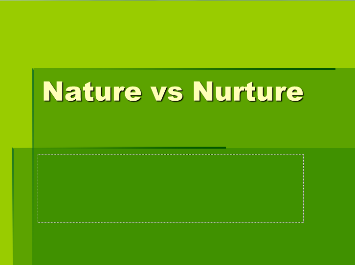 An Analysis of the Key Elements of the Nature-Nurture Controversy