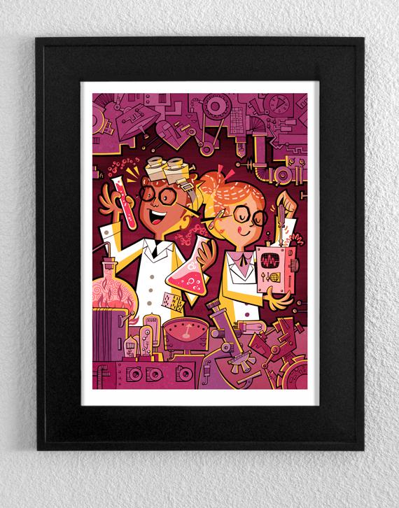 Glen Mullaly Illustration: ART STORE GRAND OPENING!