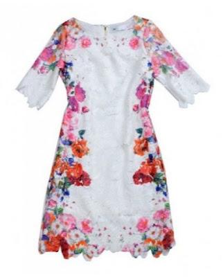 white skinny lace dress on Chicnova fashion