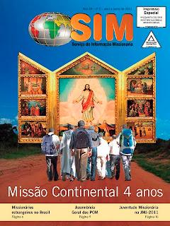 """Edição abril a junho do SIM traz """"Os 4 anos do nascimento do Projeto Missão Continental"""""""
