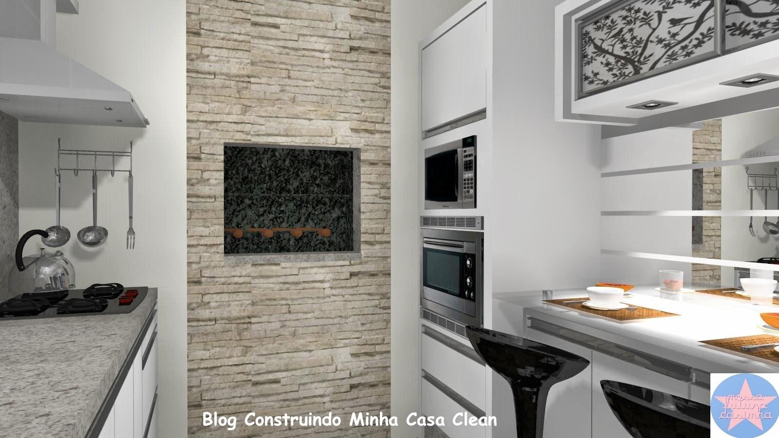 Construindo Minha Casa Clean: 25 Cozinhas Decoradas com Espelhos  #245DA7 1600 900