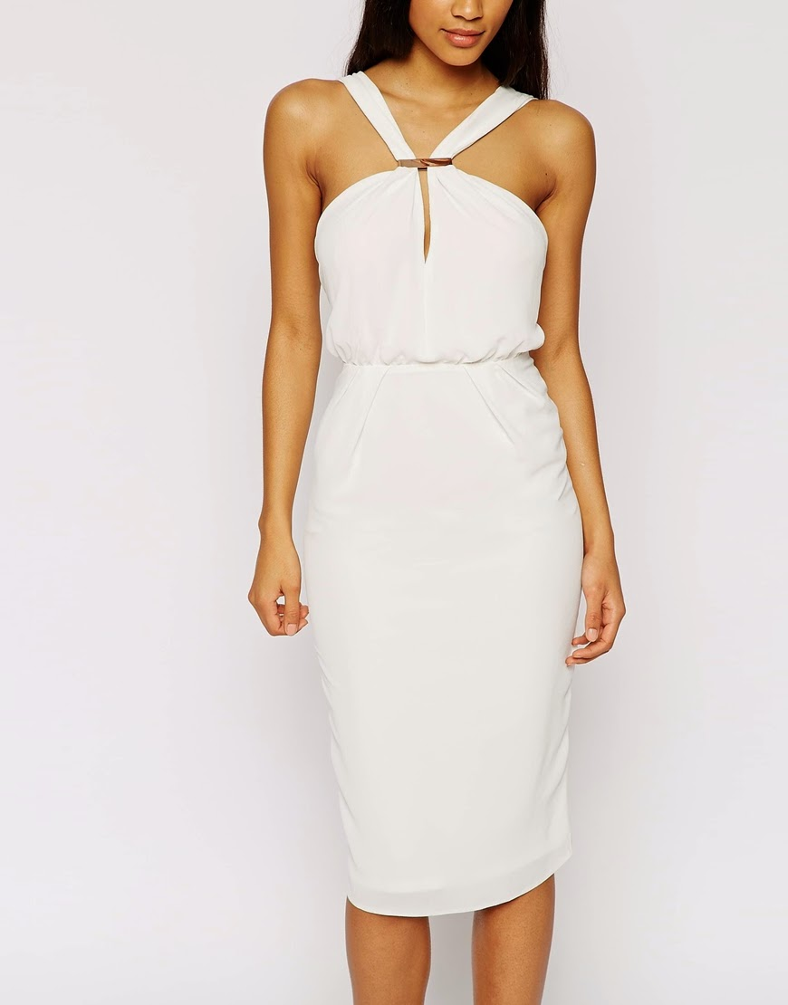 white midi dress asos,