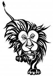 Motif Tato Singa Hitam Putih 27