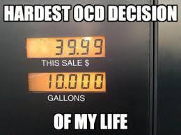 Hardest OCD decision of my life petrol gas pump station
