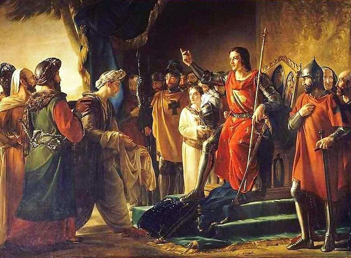 San Luis recebe em Acre os enviados do Velho da Montanha. Georges Rouget (1783-1869) Palácio de Versailles.