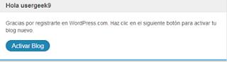 activar blog