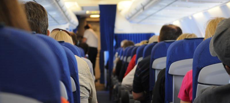 Passagers à l'intérieur d'un avion