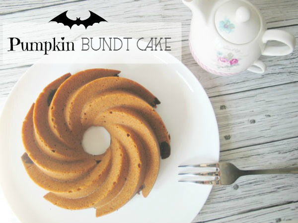 Halloween Bundt Cake Calabaza y chocolate