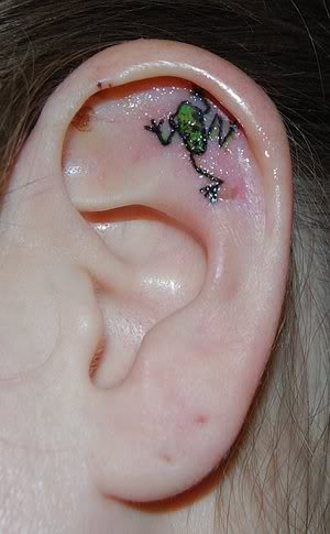 ear Frog Tattoo