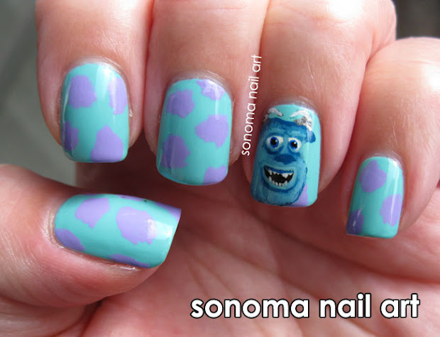 sonoma nail art sully monsters