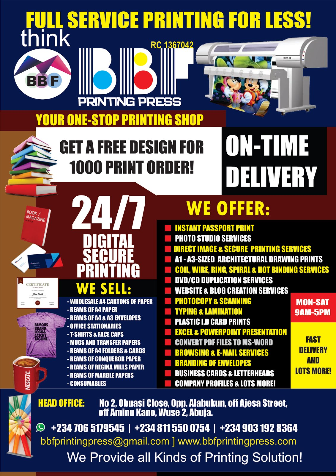 BBF PRINTING PRESS NIG LTD