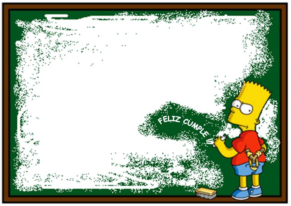 Bart deseando Feliz cumpleaños